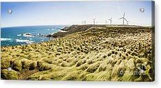 Woolnorth Wind Farm And Ocean Landscape Tasmania Acrylic Print by Jorgo Photography - Wall Art Gallery