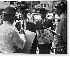 Woolworths Protest, 1963 Acrylic Print by Granger
