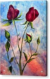 Woop Woop Rose Acrylic Print by JoLyn Holladay