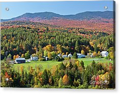 Worcester Vermont Autumn Acrylic Print by Alan L Graham