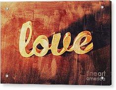Word Art Romance Acrylic Print