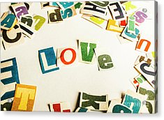 Word Of Love Acrylic Print