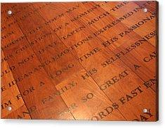 Words Of Wisdom Acrylic Print by Jez C Self