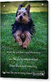 Words To Live By Acrylic Print