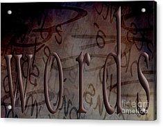 Words Acrylic Print