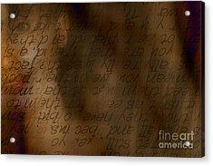 Words Winding Acrylic Print