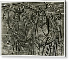Work Harness Acrylic Print by Bryan Baumeister