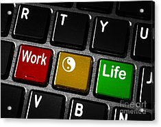 Work Life Balance Acrylic Print by Blink Images