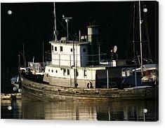 Workboat Acrylic Print by Doug Johnson