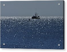Workday On The Sound Acrylic Print