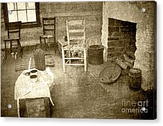 Acrylic Print featuring the photograph Worker Quarters 2 by Pete Hellmann