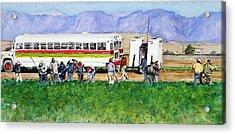 Workers Acrylic Print by Debra Jones