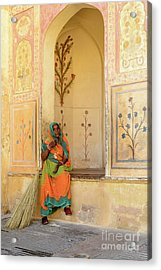 Workers In Amer Fort 01 Acrylic Print