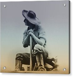 Working Man Acrylic Print by Bill Cannon