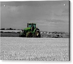 Working The Fields Acrylic Print