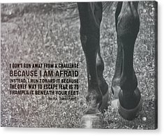 Working Trot Quote Acrylic Print by JAMART Photography