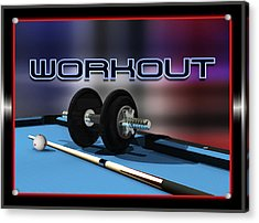 Workout Acrylic Print by Draw Shots