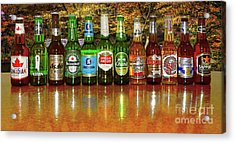 Acrylic Print featuring the photograph World Beers By Kaye Menner by Kaye Menner