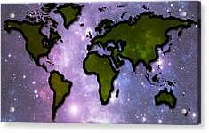 World In Space Acrylic Print