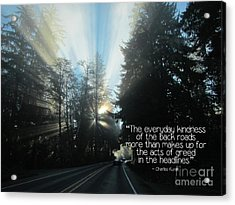 Acrylic Print featuring the photograph World Kindness Day by Peggy Hughes