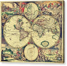 World Map 1689 Acrylic Print