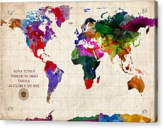 World Map Acrylic Print by Gary Grayson