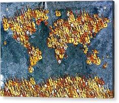 World Music Acrylic Print by Daniel Janda