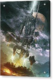 Acrylic Print featuring the digital art World Thief by Uwe Jarling