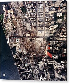 World Trade Center, Aerial Photograph Acrylic Print
