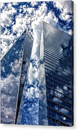 World Trade Center And Clouds Acrylic Print by Robert Ullmann