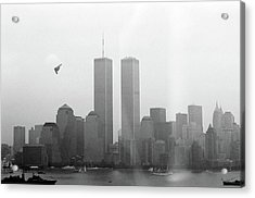 World Trade Center And Opsail 2000 July 4th Photo 18 B2 Stealth Bomber Acrylic Print by Sean Gautreaux