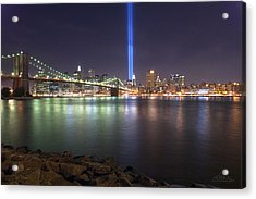 World Trade Center Memorial Acrylic Print by Shane Psaltis