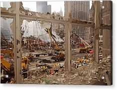 World Trade Center Recovery Operations Acrylic Print