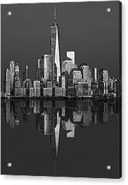 World Trade Center Reflections Bw Acrylic Print by Susan Candelario