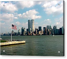 World Trade Center Remembered Acrylic Print by Tim Mattox