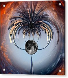 World Trade Center Tiny Planet Acrylic Print by Susan Candelario