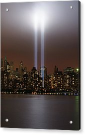 World Trade Center Tribute In Light Acrylic Print by Greg Adams Photography