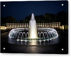 Acrylic Print featuring the photograph World War 2 Monument by Ryan Wyckoff