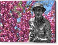 World War I Buddy Monument Statue Acrylic Print by Shelley Neff