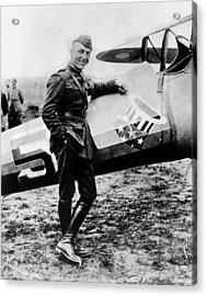 World War I Fighter Ace And Air Advisor Acrylic Print by Everett
