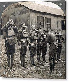 World War I: Gas Masks Acrylic Print by Granger