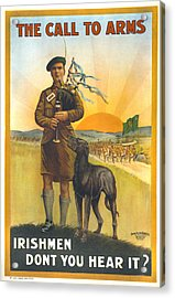 World War I, Irish Military Recruitment Acrylic Print by Everett