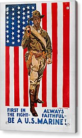 World War I: U.s. Marines Acrylic Print by Granger