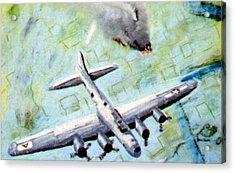 World War II Bombing Raid Acrylic Print by Stan Hamilton