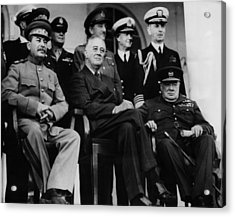 World War II. From Left, Front Row Acrylic Print by Everett