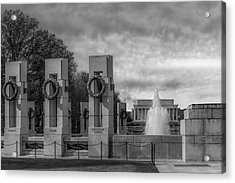 World War II Memorial Bw Acrylic Print