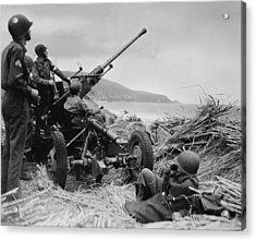 World War II, Original Caption Acrylic Print