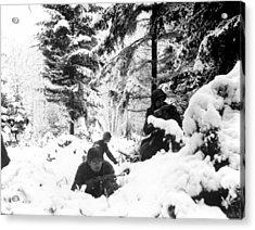 World War II. Us Army Infantrymen Take Acrylic Print