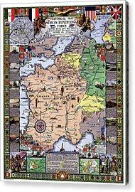 World War One Historian's Panel Acrylic Print by Daniel Hagerman