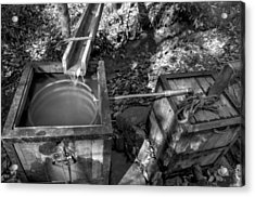 Worm Box And Thump Keg In Black And White Acrylic Print